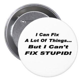 Fíjelo botón pin redondo de 3 pulgadas