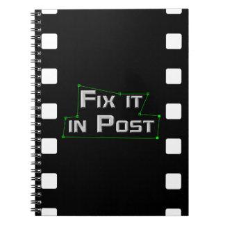 Fíjelo en cuaderno de VFX del poste
