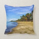 Fiji Beach Blue Sky Decorative Throw Pillow