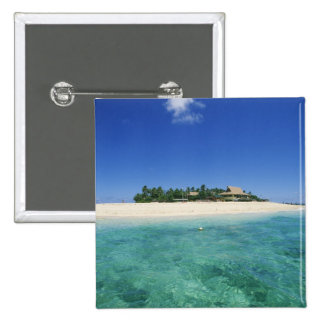 FIJI, Beachcomber Island. 2 Inch Square Button