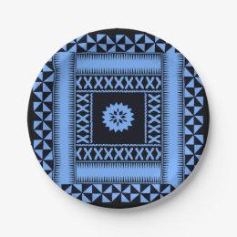 Fiji Blue Paper Plates