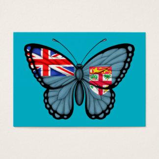 Fiji Butterfly Flag Business Card