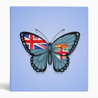 Fiji Butterfly Flag on Blue Vinyl Binders