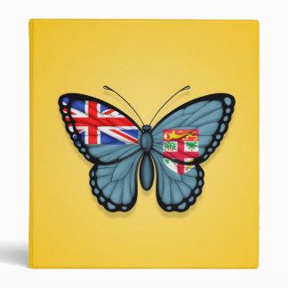 Fiji Butterfly Flag on Yellow Vinyl Binder