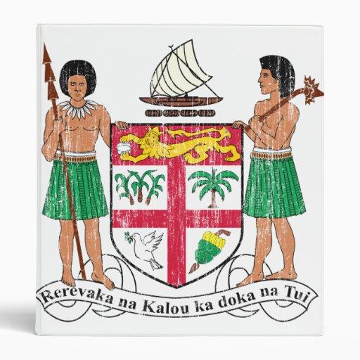 Fiji Coat Of Arms Binders
