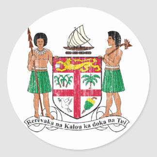 Fiji Coat Of Arms Classic Round Sticker