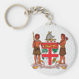 Fiji Coat of Arms detail Basic Round Button Keychain