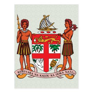 Fiji Coat of Arms detail Postcard