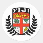 Fiji Coat of Arms Round Sticker