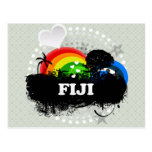 Fiji con sabor a fruta linda tarjeta postal