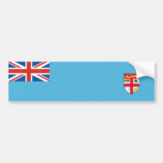 fiji country flag nation symbol long bumper sticker