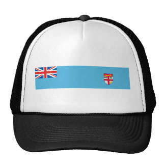 fiji country flag nation symbol long trucker hat