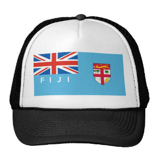fiji country flag text name trucker hat