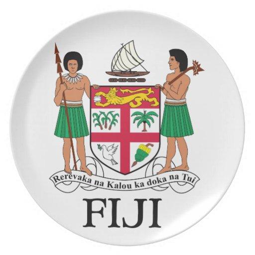 FIJI - emblem / flag / coat of arms / symbol Party Plate