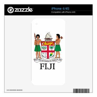 FIJI - emblem / flag / coat of arms / symbol iPhone 4 Decal