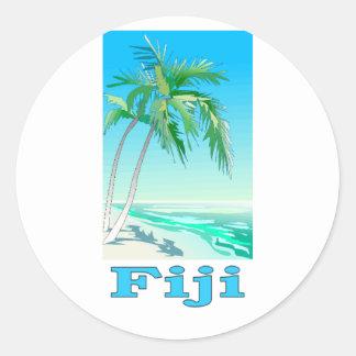 Fiji Etiqueta Redonda