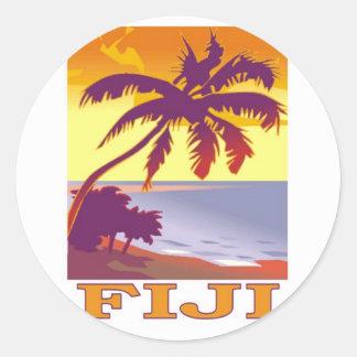 Fiji Etiquetas Redondas