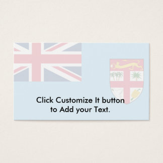 Fiji, Fiji flag Business Card