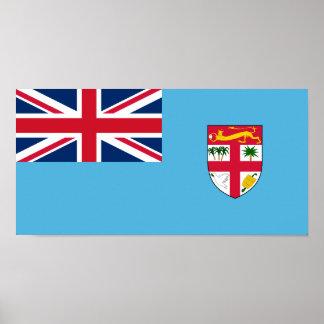 Fiji, Fiji flag Poster