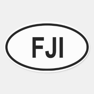 "Fiji ""FJI "" Calcomania De Óval Personalizadas"