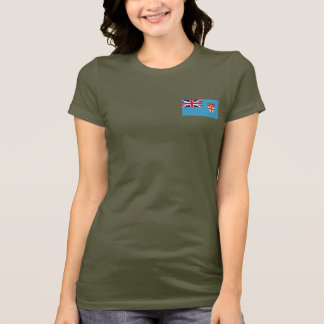 Fiji Flag and Map dk T-Shirt