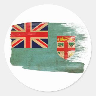 Fiji Flag Classic Round Sticker