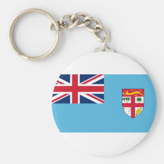 Fiji Flag FJ Basic Round Button Keychain