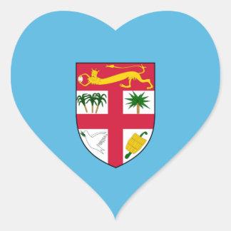 Fiji Flag FJ Heart Sticker