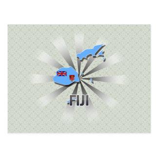 Fiji Flag Map 2.0 Postcard