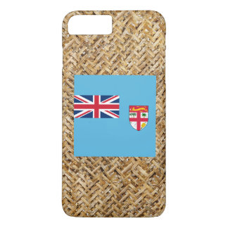Fiji Flag on Textile themed iPhone 8 Plus/7 Plus Case