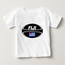 Fiji Flag Rugby Ball Baby T-Shirt