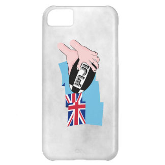 Fiji Flag Rugby Ball Pass Cartoon Hands iPhone 5C Case