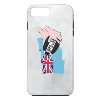 Fiji Flag Rugby Ball Pass Cartoon Hands iPhone 8 Plus/7 Plus Case