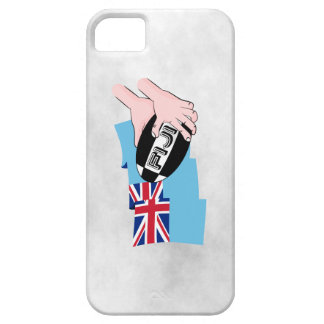 Fiji Flag Rugby Ball Pass Cartoon Hands iPhone SE/5/5s Case