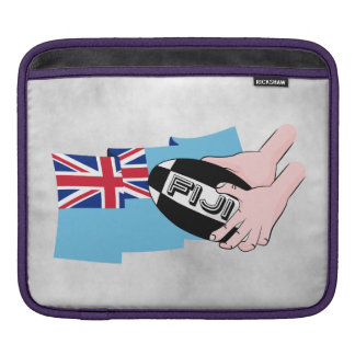 Fiji Flag Rugby Ball Pass Cartoon Hands Sleeve For iPads