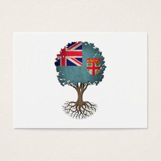 Fiji Flag Tree of Life Customizable Business Card