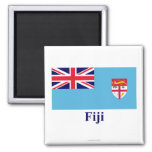 Fiji Flag with Name Refrigerator Magnets