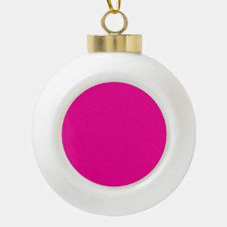 Fiji Fuchsia-Purple-Pink Magenta Tropical Romance Ceramic Ball Christmas Ornament