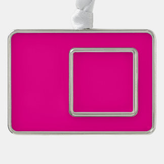 Fiji Fuchsia-Purple-Pink Magenta Tropical Romance Silver Plated Framed Ornament
