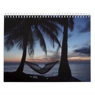 Fiji gloriosa calendarios de pared