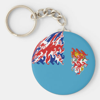 Fiji Gnarly Flag Basic Round Button Keychain