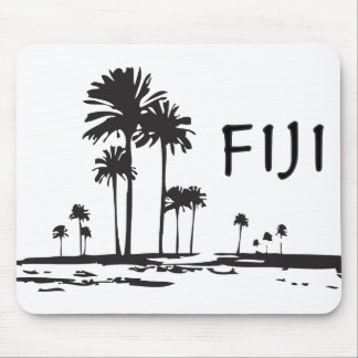 Fiji - Graphic Palm Trees Mouse Pad
