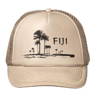 Fiji - Graphic Palm Trees Trucker Hat