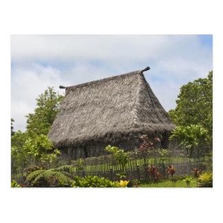Fiji, isla de Viti Levu. Cultural polinesio Tarjeta Postal