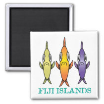 Fiji Islands 3-Fishes Magnet