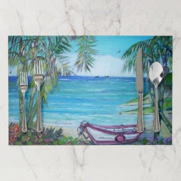 Beach Themed Fiji Islands - Placemat