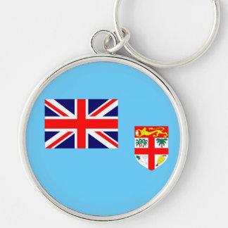 Fiji Islands Silver-Colored Round Keychain
