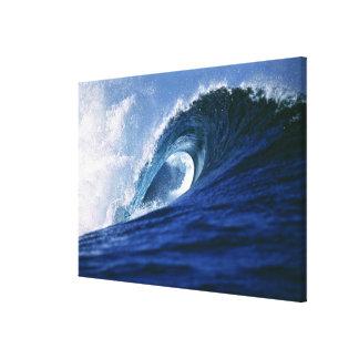 Fiji Islands, Tavarua, Cloudbreak. A wave Canvas Print