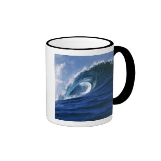 Fiji Islands, Tavarua, Cloudbreak. A wave Ringer Coffee Mug
