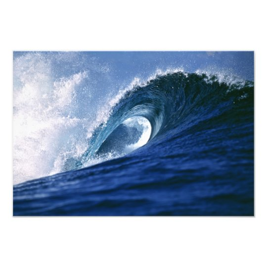 Fiji Islands, Tavarua, Cloudbreak. A wave Photo Print